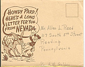 Long Letter From Nevada Souvenir Folder Sf0660