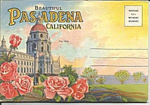 Pasadena, California Souvenir Folder Sf0667