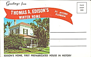 Edison s Winter Home, Ft Myer, Florida Souvenir Folder sf0696 (Image1)