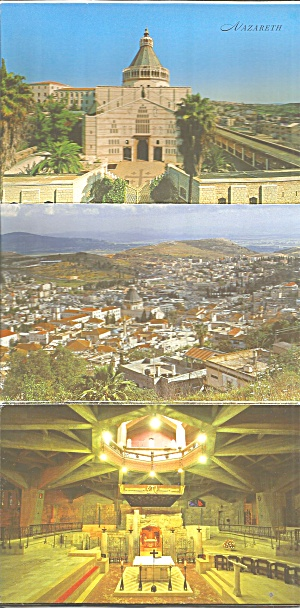 Souvenir Folder Postcards Nazareth Israel Sf0702