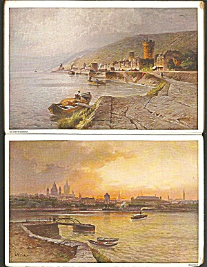Book Of Detachable Postcards Of Rhine River Germany Sf0708