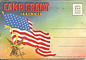 Camp Grant Il Us Army Souvenir Folder Sf0714