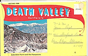 Death Valley Ca Souvenir Folder Sf0715