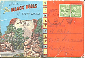 Black Hills Sd Souvenir Folder Sf0718