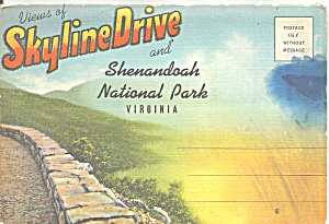 Skyline Drive Shenandoah National Park Souvenir Folder Sf0719