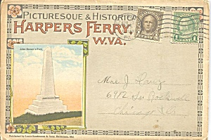 Harper S Ferry Wv Antique Souvenir Folder Sf0722