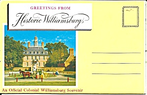 Williamsburg VA Souvenir Folder sf0725 (Image1)
