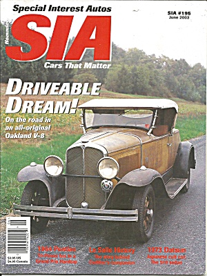 Special Interest Autos Drivable Dream Oakland V 8 SIA03 06 (Image1)