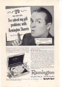 Remington Shavers Bob Hope Ad 1940s (Image1)