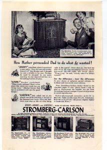Stromberg-Carlson Radio Phonograph Ad 1940s (Image1)