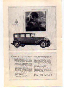 Packard Motor Car Ad 1927