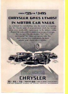 Chrysler Motor Car Ad 1927 (Image1)
