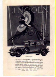 Lincoln Motor Car Ad 1927