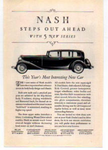 Nash Motor Car  Ad 1932 (Image1)