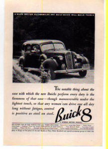 Buick 8 Ad 1936
