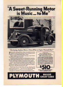 Plymouth Ad 1936