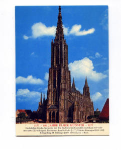 Ulm Germany Cathedral Postcard t0067 (Image1)