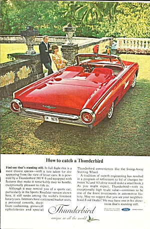 1963 Thunderbird Sports Roadster Ad tbird25 (Image1)