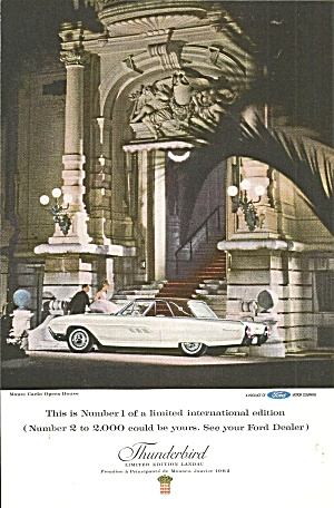 1963 Ford Thunderbird at Monte Carlo Opera House tbird26 (Image1)