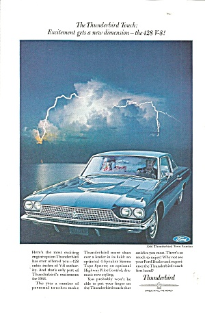 1966 Thunderbird Town Landeau Ad tbird32 (Image1)