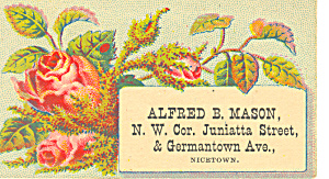 Masons Grocery Store Trade  Card tc0000 (Image1)
