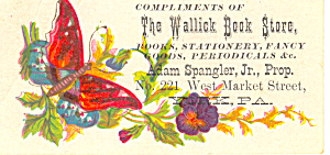 Wallick Book Store Trade Card
