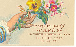 Patridges Cafe Trade Card