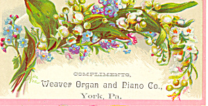 Weaver Piano Trade Card York PA tc0028 (Image1)