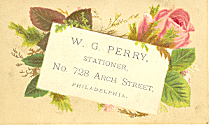 Stationer Trade Card Philadelphia PA tc0029 (Image1)