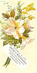 Artist Materials Trade Card, Philadelphia, Pa