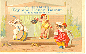Toy Store Trade Card, Philadelphia, Pa