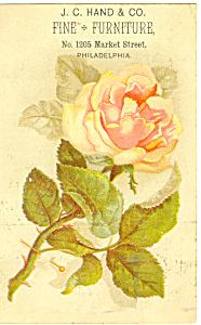 Furniture Store Trade Card Philadelphia PA tc0041 (Image1)