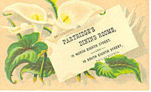Restaurant Trade Card Philadelphia, Pa