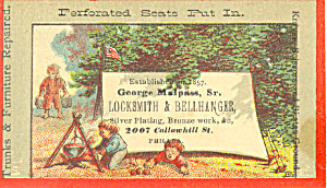 Locksmith and Bellhanger Trade Card tc0064 (Image1)