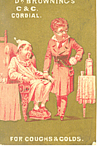 Dr Browning s Cough Medicine Trade Card tc0071 (Image1)