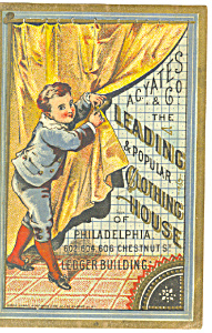 Clothing Store Victorian Trade Card tc0076 (Image1)
