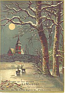Philadelphia Soft Goods Dealer Victorian Trade Card tc0092 (Image1)