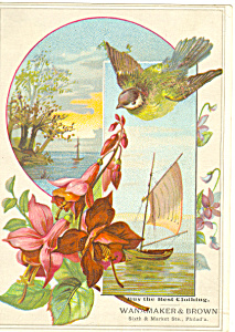 Wanamaker Brown Philadelphia  Victorian Trade Card tc0098 (Image1)