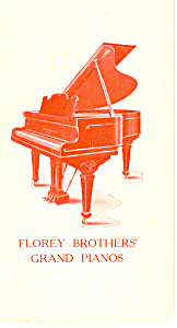 Florey Brothers Grand Pianos Victorian Trade Card tc0101 (Image1)