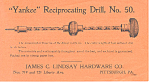 Yankee Reciprocating Drill No. 50 Victorian Trade Card tc0102 (Image1)