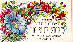 Miller S Big Shoe Store Trade Card Tc0118