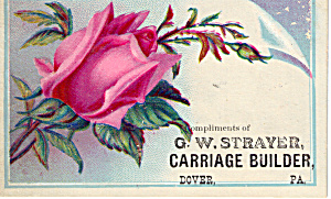 G W Strayer Carriage Builder Trade Card Tc0126