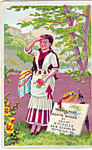 Mitchell's Boots and Shoes Trade Card (Image1)