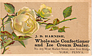 J D Harnish Confectioner And Ice Cream Dealer Tc0138