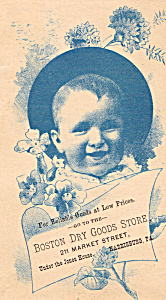 Boston Dry Goods StoreTrade Card (Image1)