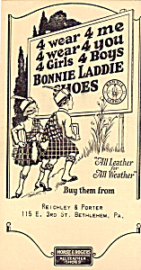 Reichley & Porter, Bonnie Laddie ShoesTrade Card (Image1)