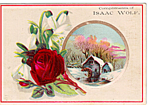 Isaac Wolf Colthier Trade Card Tc0145