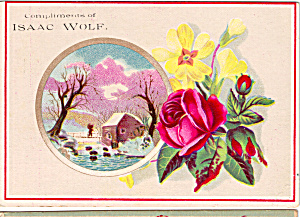 Isaac Wolf Clothier Trade Card tc0156 (Image1)