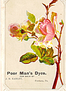 Poor Man S Package Dyes Trade Card Tc0207
