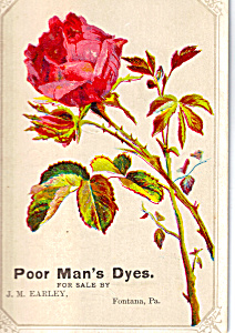 Poor Man S Package Dyes Trade Card Tc0208
